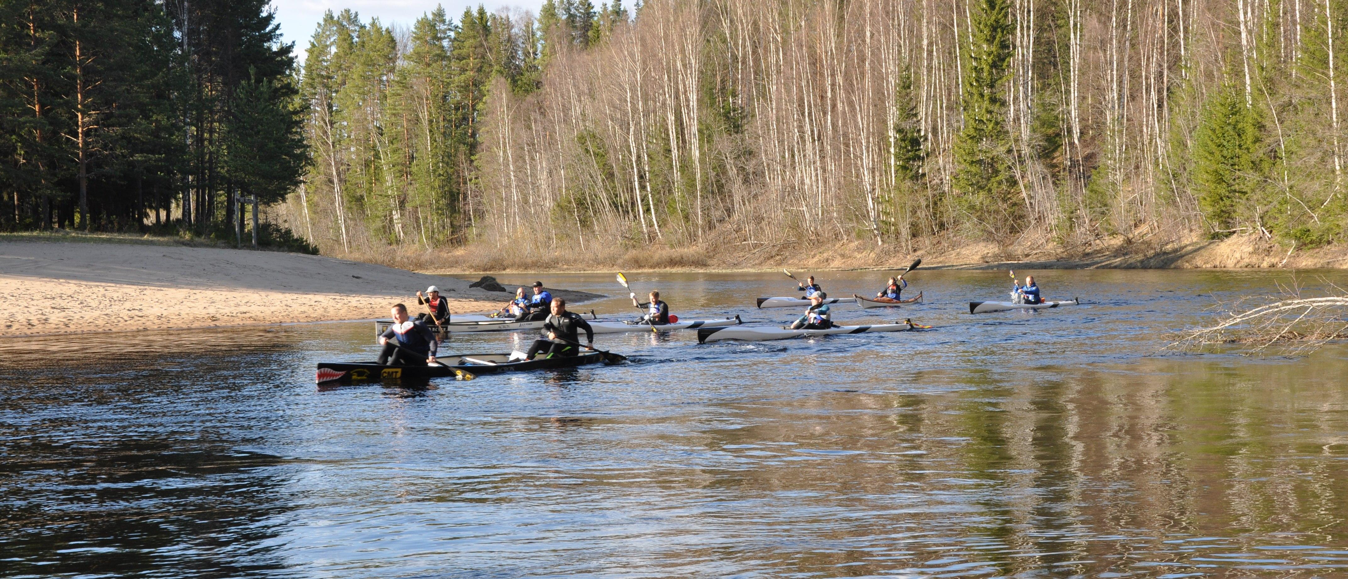 HEX i begynnelsen, paddling Voxnan