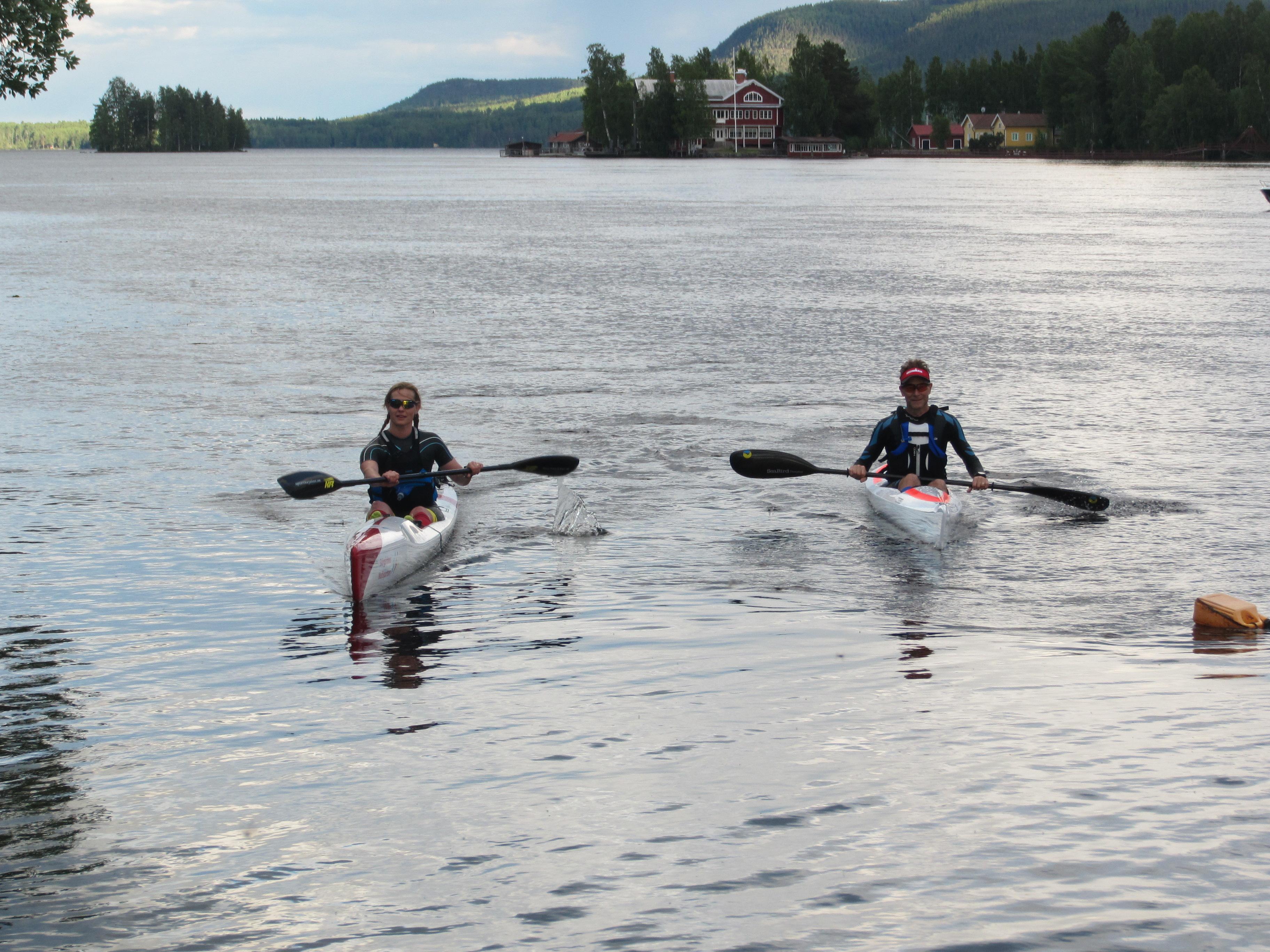 Åsa och Micke, efter rundningen av Storön