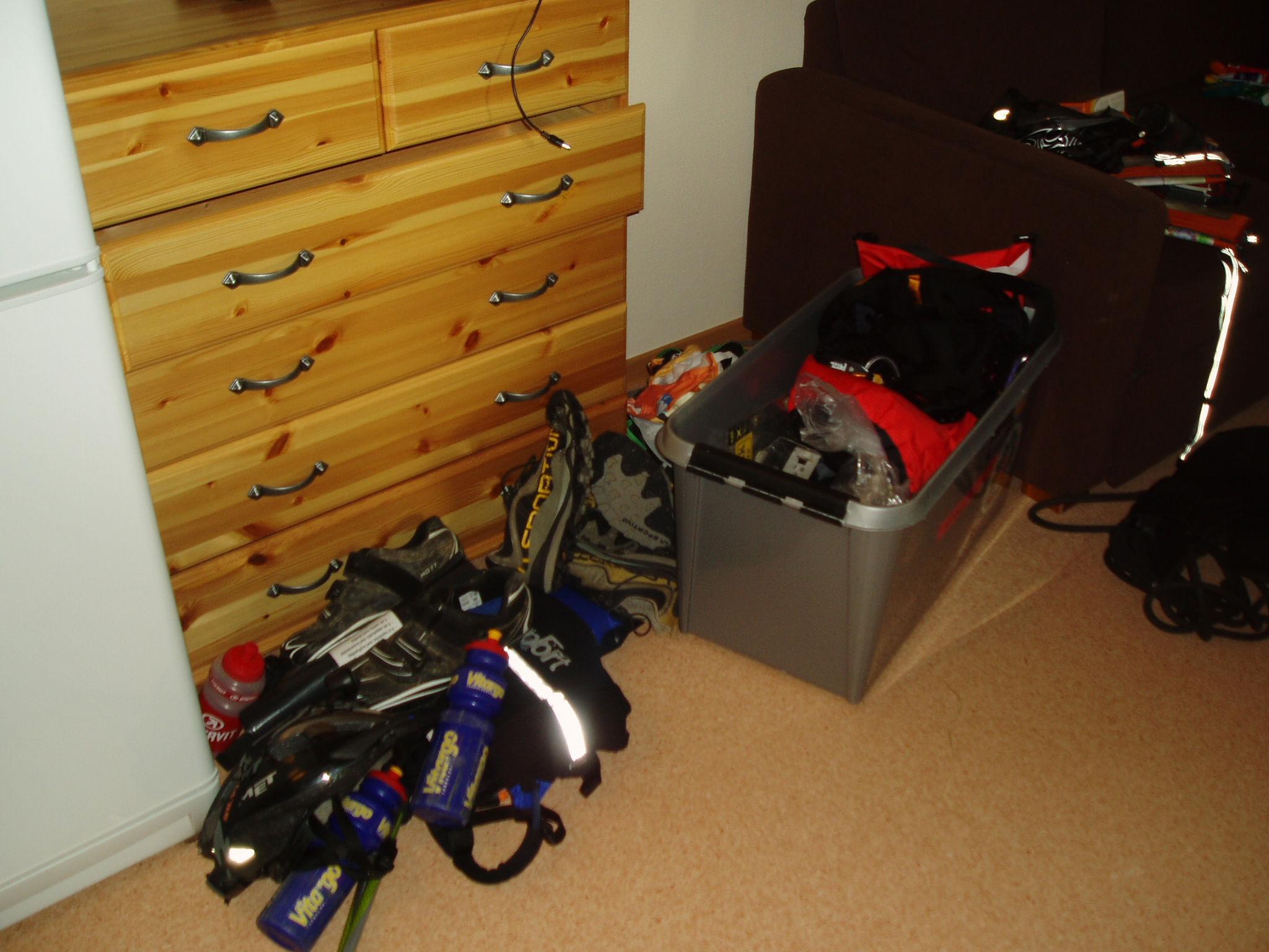 Så här kan en packning av racelåda se ut...
