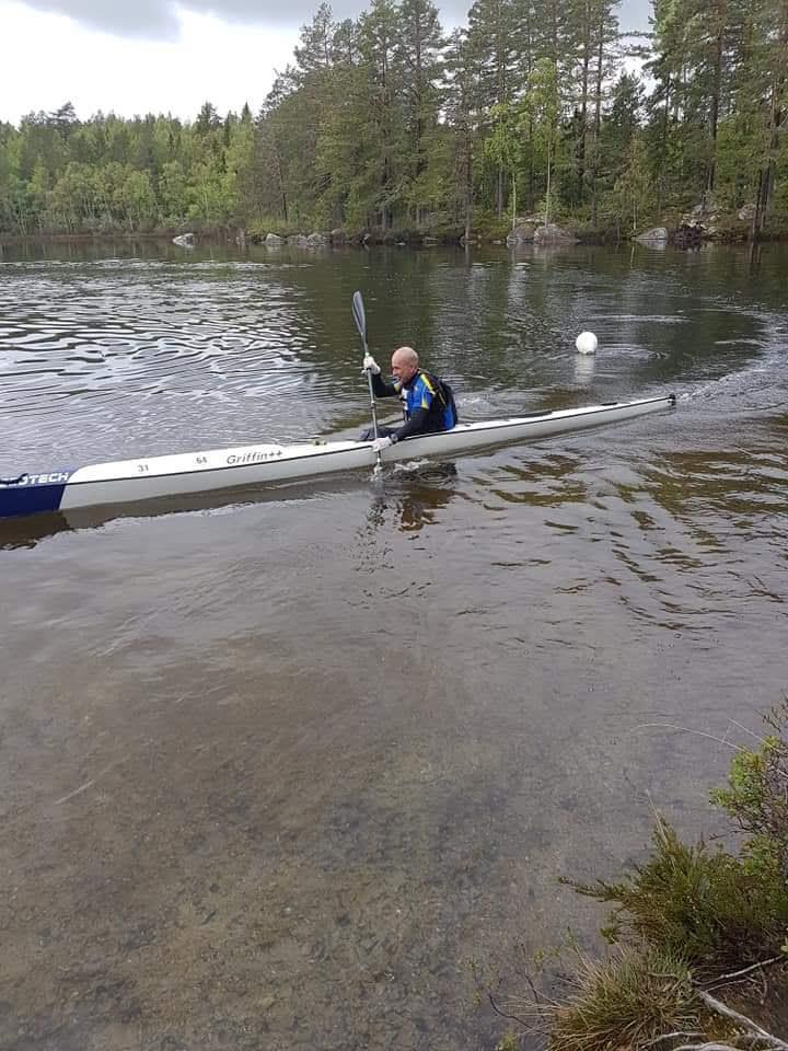 Claes under paddlingen